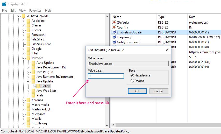 never-check-jav-update-windows-10