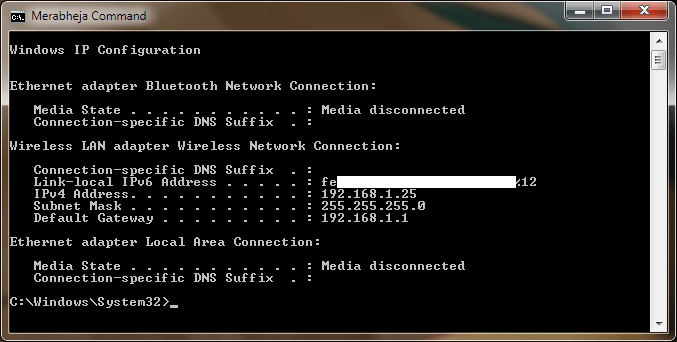 How to create a Desktop Shortcut of a CMD Command in Windows