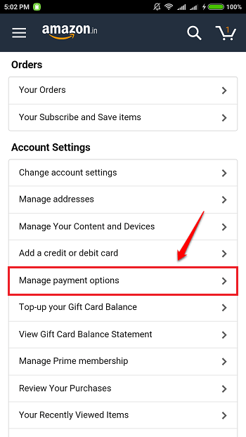 To Manage The Credit/Debit Cards Associated With Your Amazon Account