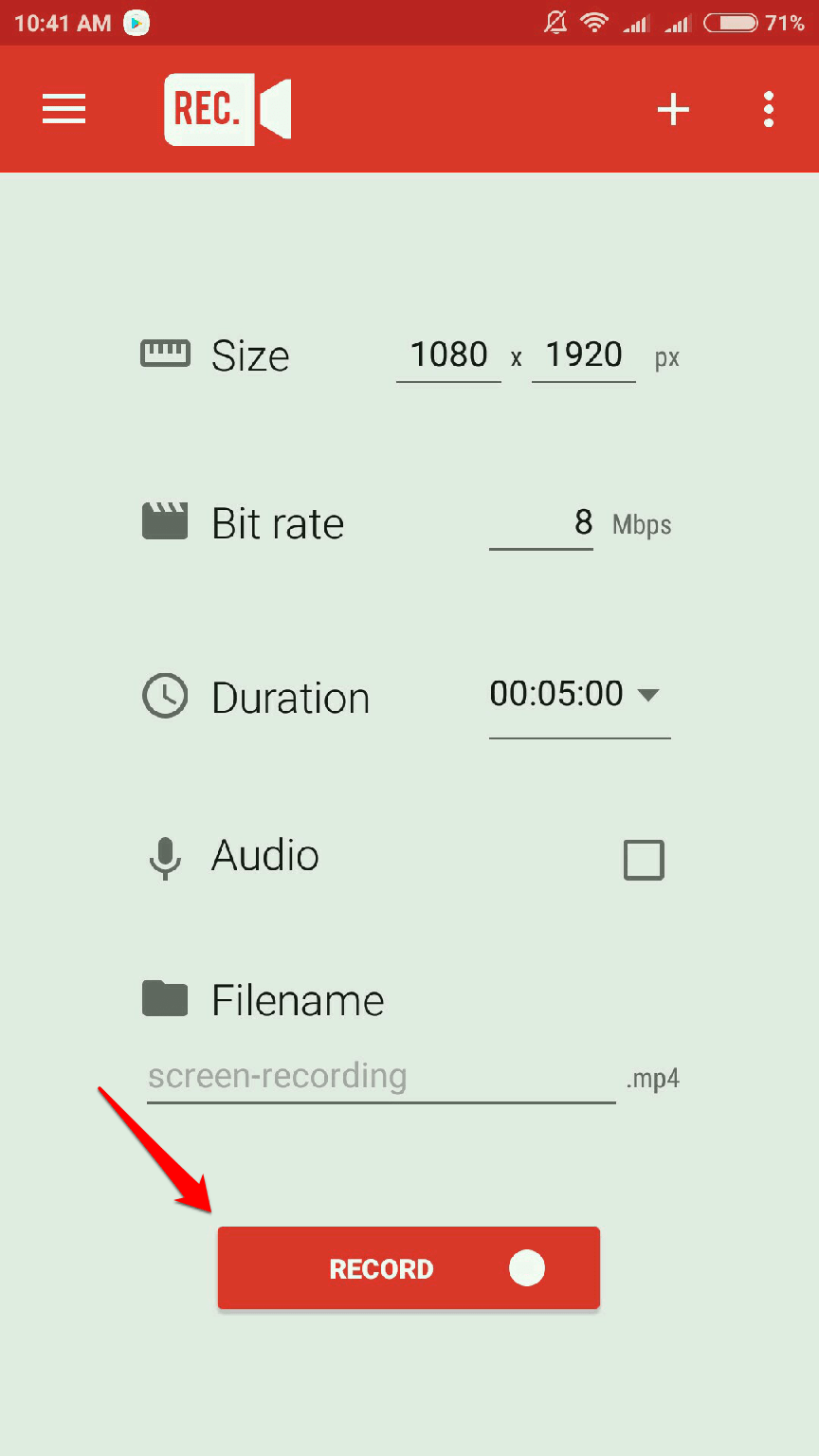 How To use Rec screen recorder on android phone to record screen