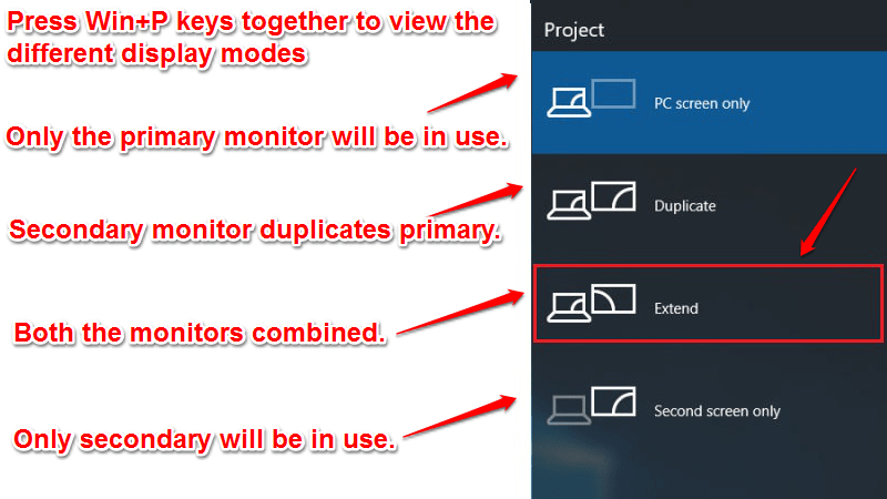 what to choose to configure multiple monitors in windows