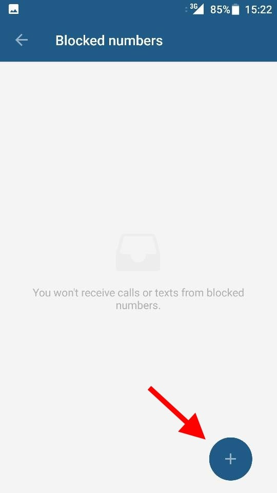 Add Number To Be Blocked List Min