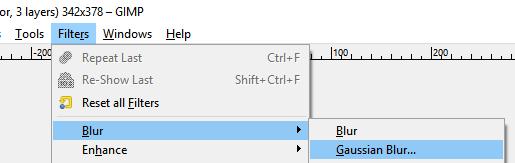 Filter Gaussian Blur Gimp