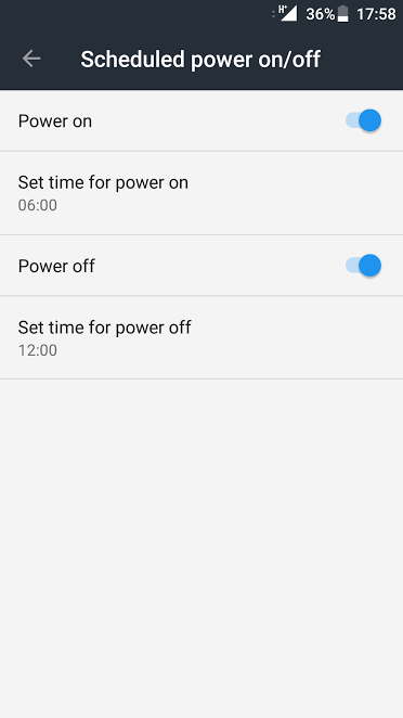 Scheduled Auto Shutdown Android
