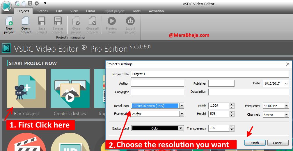 VSDC tutorial image 1