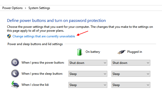 Change Settings Currently Unavailable Windows 10