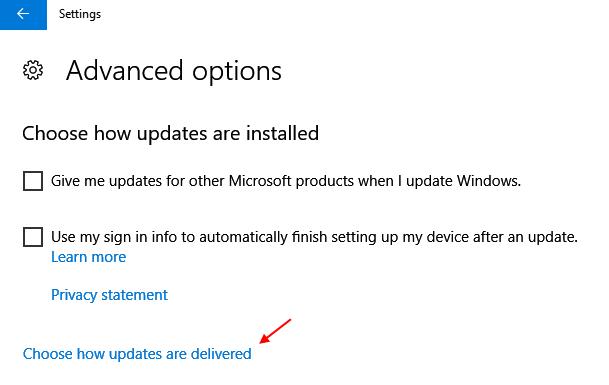 Choose How Updates Dlivered