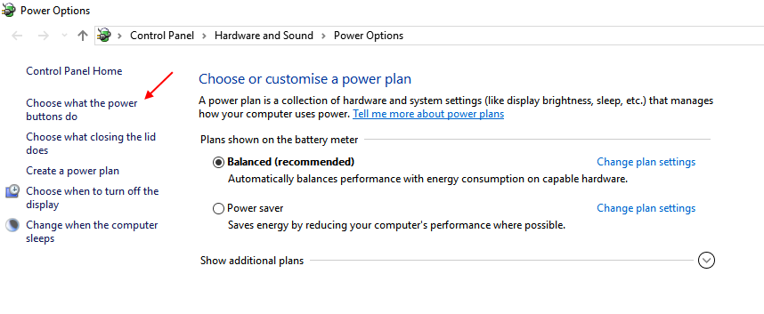 Choose Power Buttons Do Windows 10