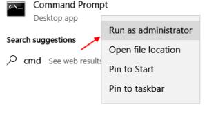 Commandprompt As Admin Windows 10 Taskbar Search