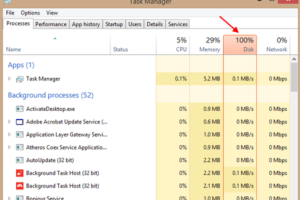 Disk Usage 100 Percent Task Manager