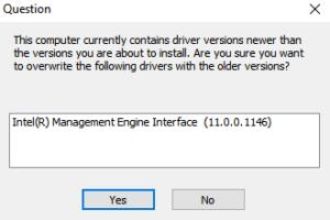 Downgrade Mei Driver Windows 10