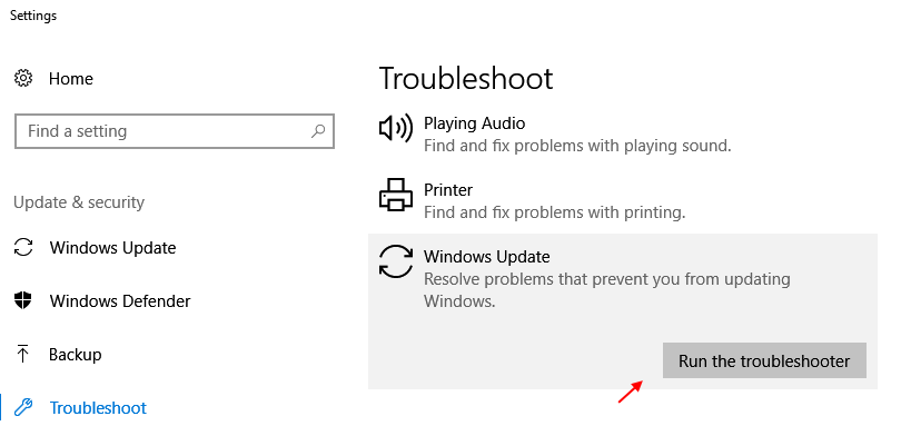 Troubleshoot Run Windows 10