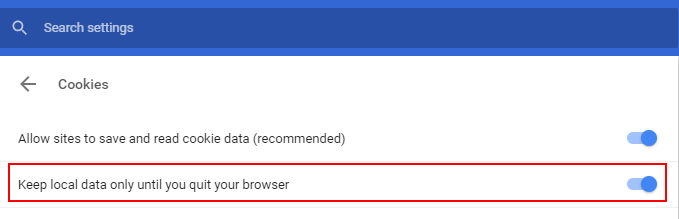 Keep Local Data Chrome Untill Quit
