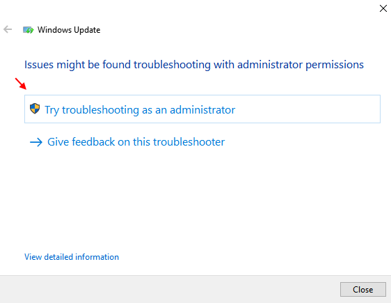 Troubleshooting As Admin
