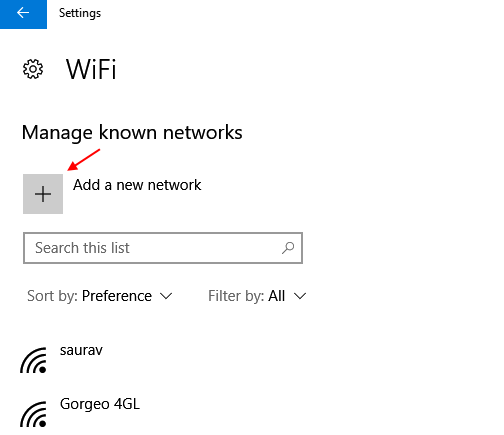 Add A New Wifi Network Windows 10