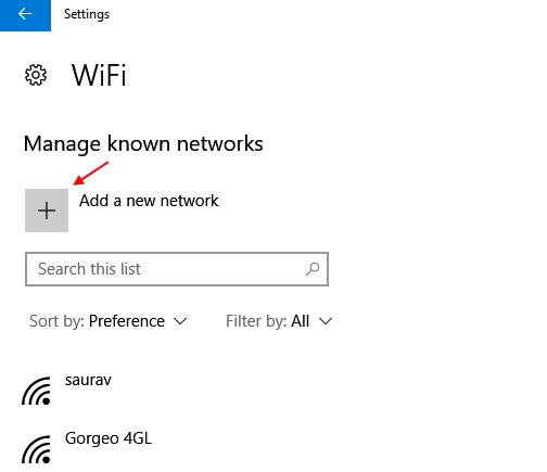 Add A New Wifi Network Windows 10