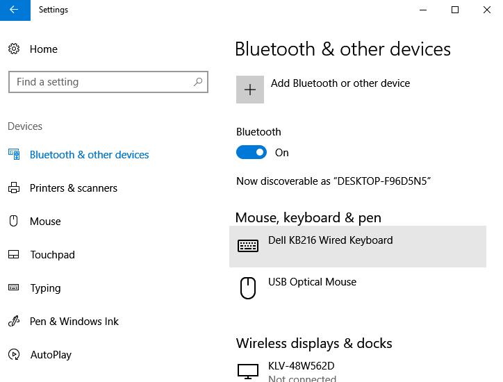 Add Bluetooth Device Windows 10