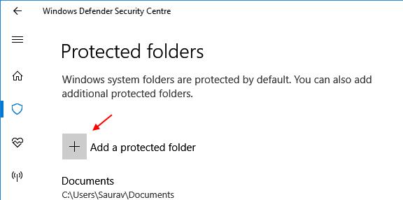 Add Protected Folder Windows 10 Controlled Folder Access 1