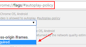Chrome auto play video Policy