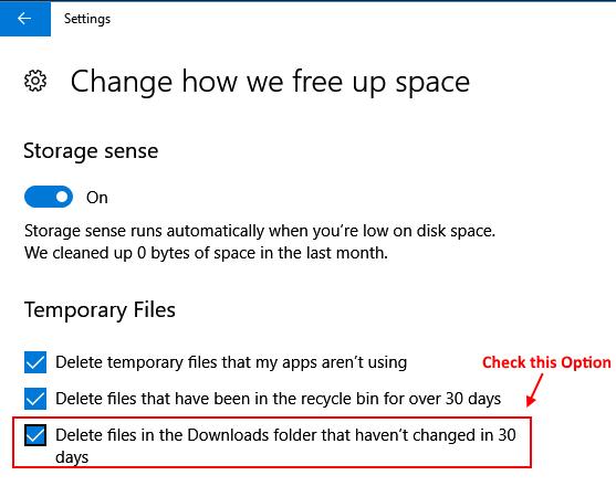 Delete Files Downloads Folder Auto 30 Days Windows 10