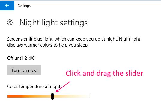 Drag Slider Night Light Color Temperature