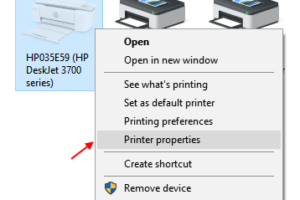 Printer Properties Windows 10