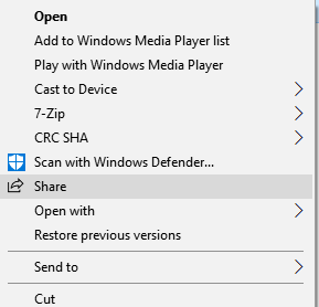 Share Windows 10