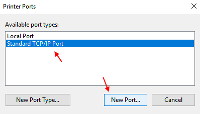 Standard Tcp Ip Port Printer Windows 10