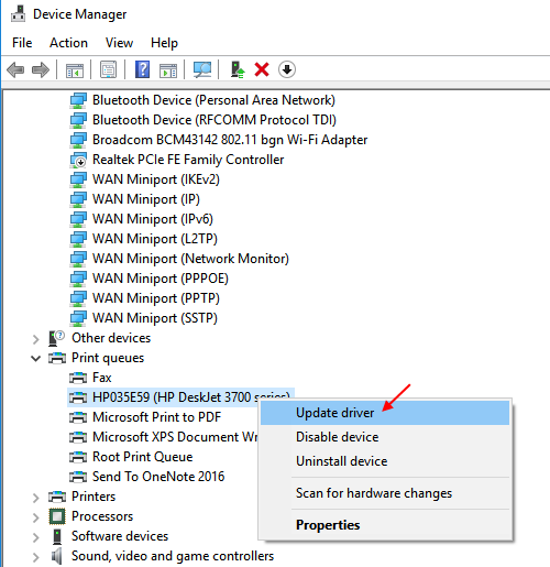 Microsoft 10 Printer Driver