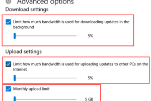 Limit Windows 10 Update Download Internet Bandwidth Date
