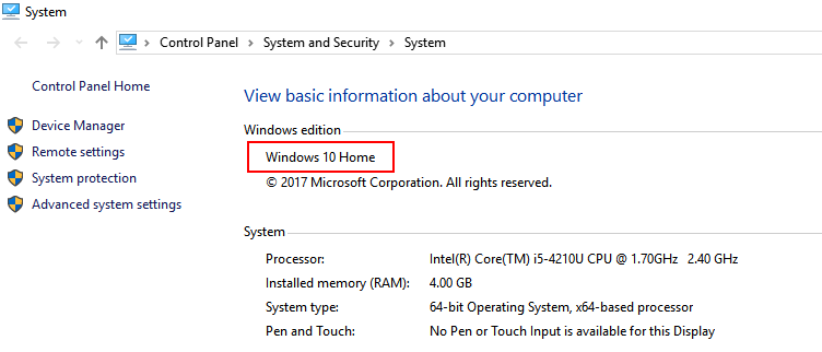 Windows Edition System