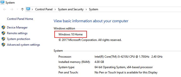 Windows Edition System