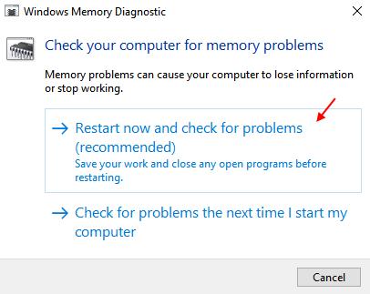 Windows Memory Diagnostic Tool 1