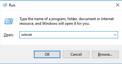 Winver Find Windows Build Version