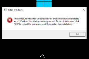 The Computer Restarted Unexpectedly Windows 10