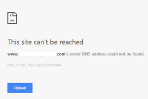 Dns Probe Finished Nxdomain Error Server Address Not Found