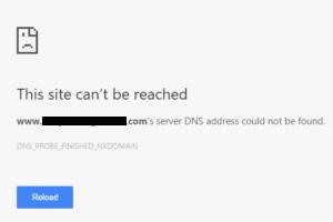 Dns Probe Finished Nxdomain Error Server Address Not Found