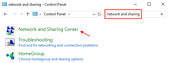 Network Sharing Center