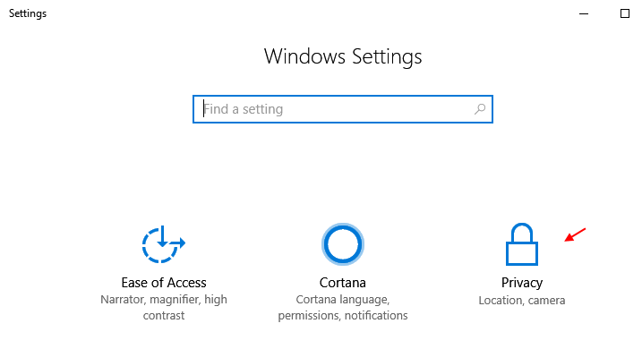 Privacy Windows 10 Settings
