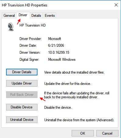 how to fix windows camera windows 10