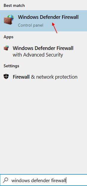 Windows Defender Firewall Min