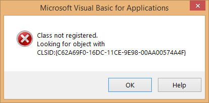Class Not Registered Error In Windows 10
