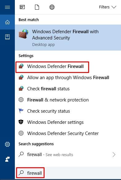Cortana Firewall