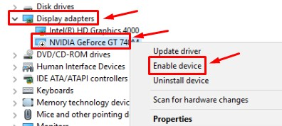Enable Graphics Card