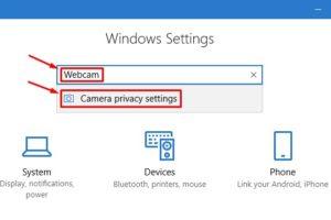 Open Camera Privacy Settings