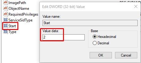 Start Value Data 2