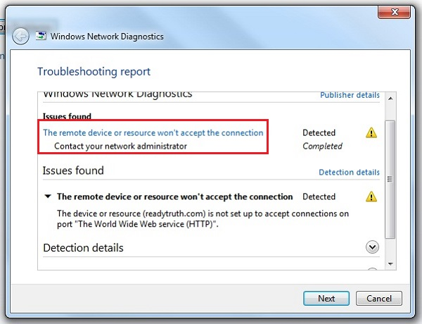 Fix The remote device or resource won\u0027t accept the connection in