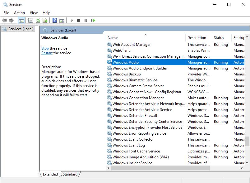 Windows Services Min