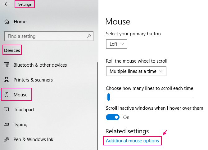Additional Mouse Options Min