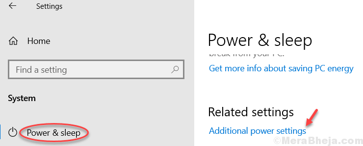 Additional Power Settings Min